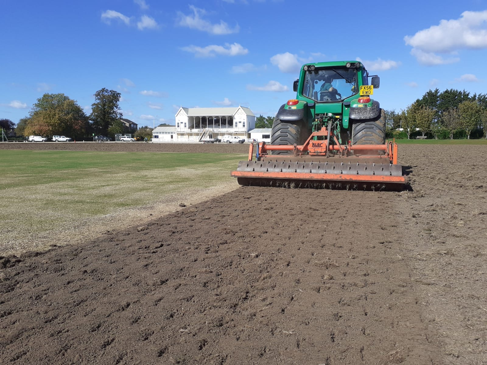 Biggest ever outfield renovation at Swindon Cricket Club